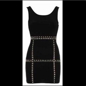 Britney Spears:Candies Black Studded Dress